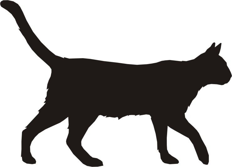 740x534 Dog And Cat Silhouette Clipart Panda Free Clipart Images Digi