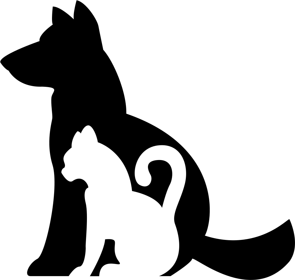 981x929 Dog And Cat Silhouettes Together Svg Png Icon Free Download