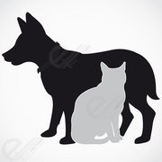 180x180 Dog And Cat Clip Art, Free Vector Dog And Cat