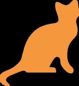 276x300 Orange Cat Silhouette Clip Art