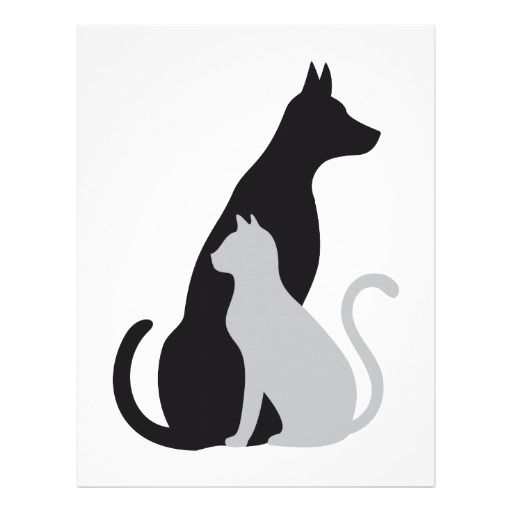 Dog And Cat Silhouette Clip Art Free at GetDrawings.com ...