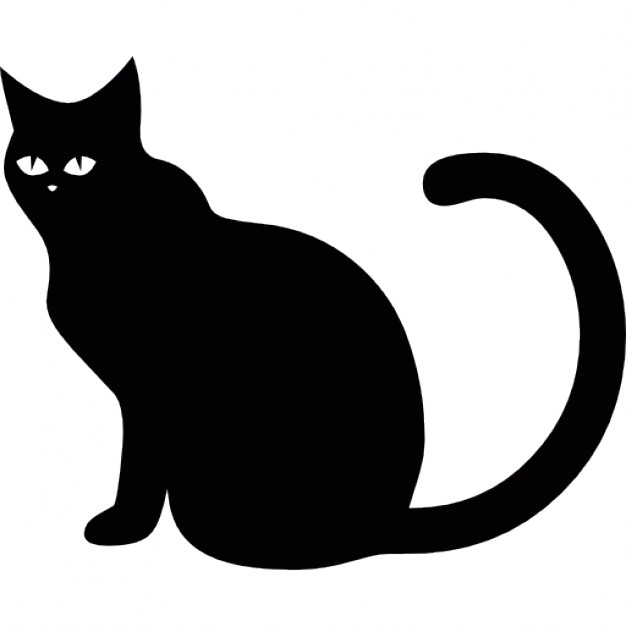 626x626 Cat Black Icons Free Download