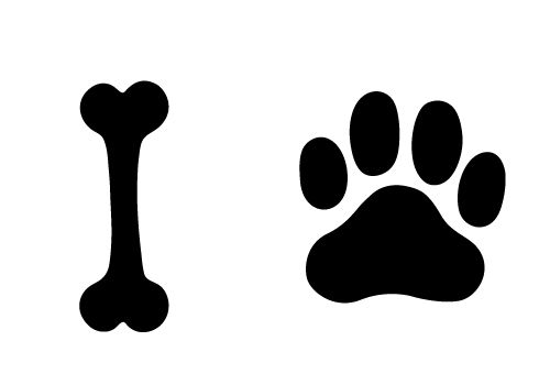 500x350 Try This Free Dog Bone And Paw Vector For Your Designs. Pawing Is