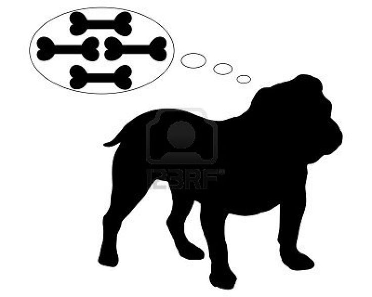 Dog Cartoon Silhouette
