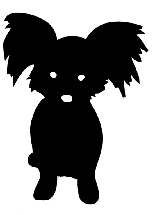 564x737 Dog Silhouette