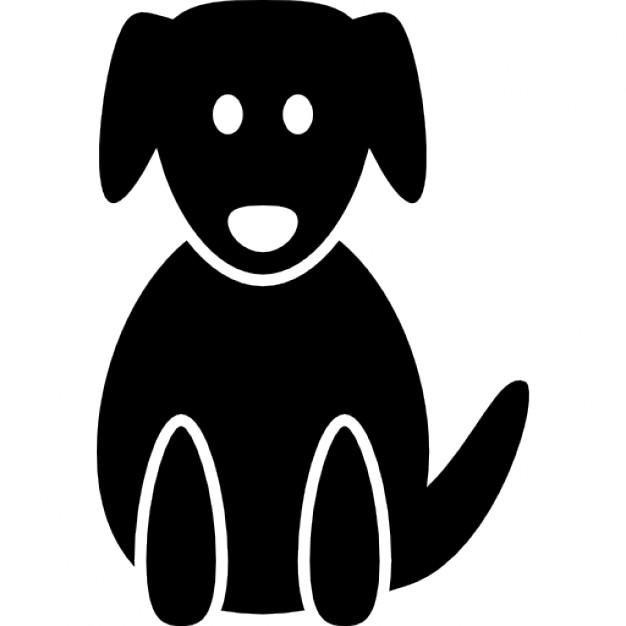 626x626 Dog Silhouette In A Sitting Position Icons Free Download