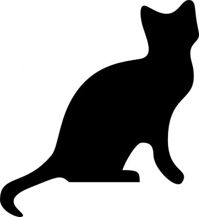 391x425 Animals Cat Black Silhouette Sleeping Cartoon Dog Free Mammals