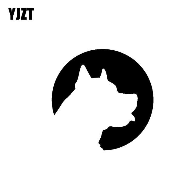 640x640 Yjzt 12cm12cm Cartoon Dog Silhouette Vinyl Car Sticker C2 3018
