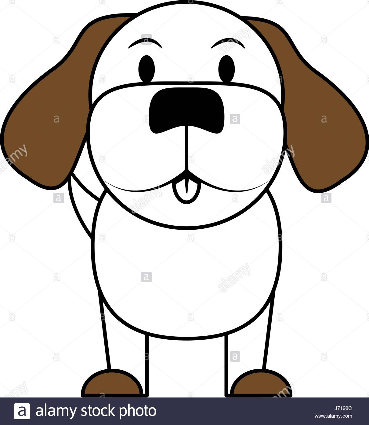 1209x1390 White And Brown Silhouette Of Cartoon Front View Dog Animal