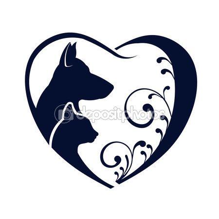 450x450 82 Best Dog Cat Logo Images On Cat Logo, Dog Cat