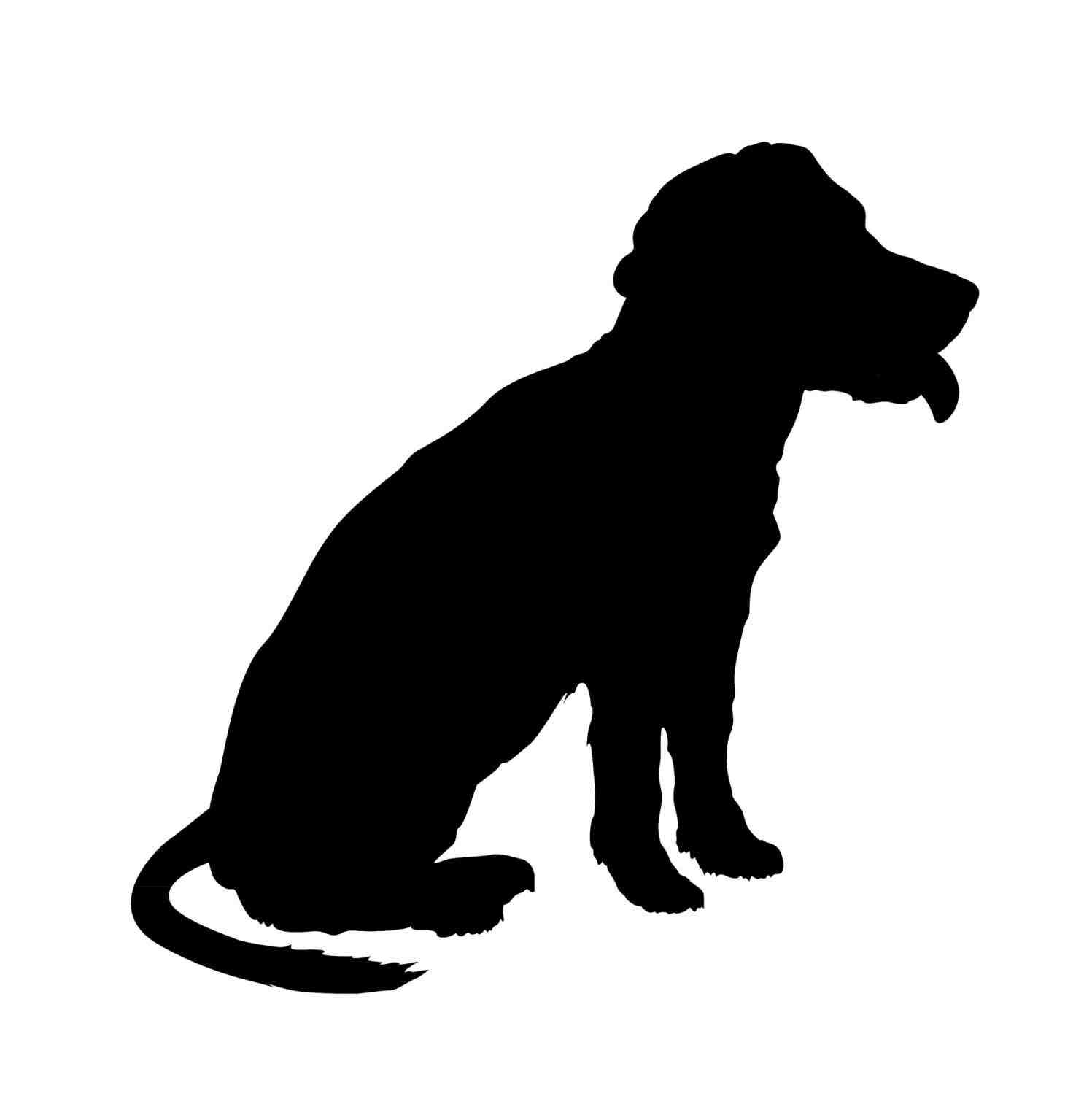 1497x1517 Silhouette Clip Art Clipart Dog Silhouette Pencil And In Color