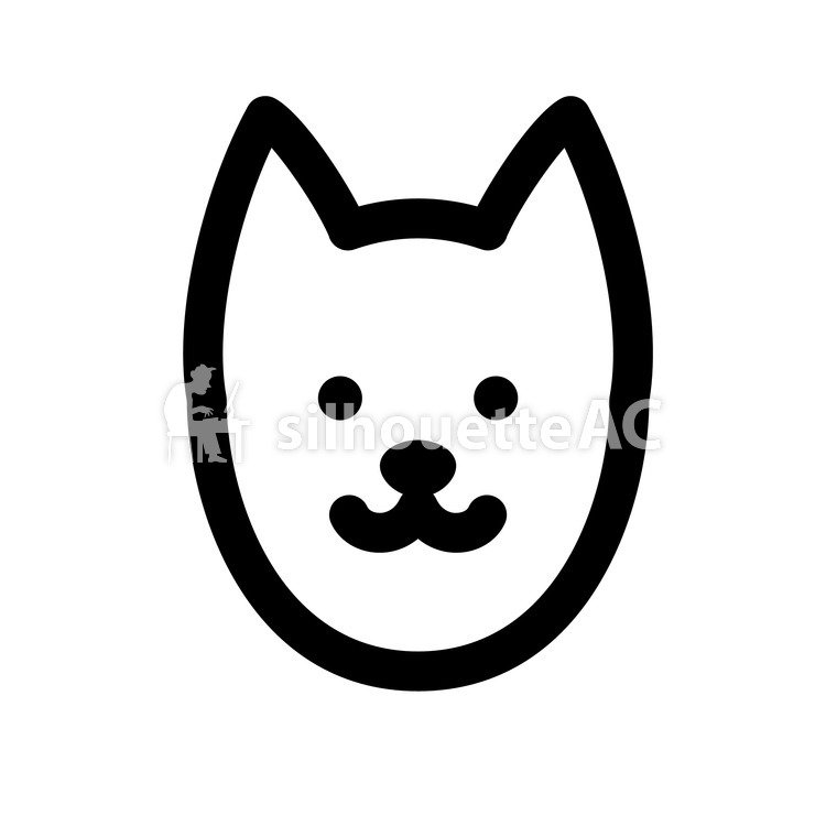 750x750 Free Silhouette Vector Animal, Face, Dog
