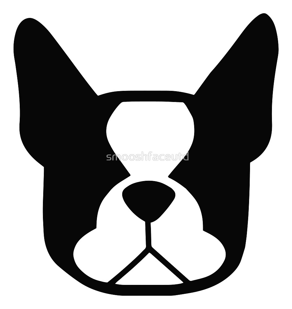 946x1000 Boston Terrier Face In Black And White