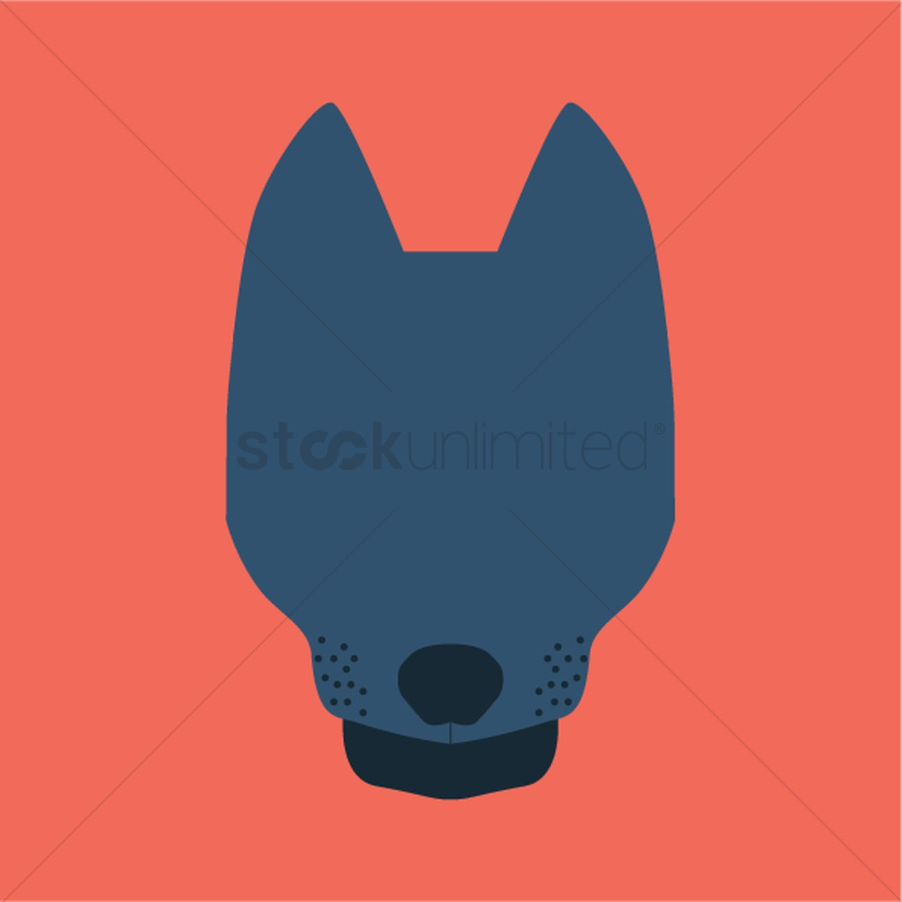 1300x1300 Silhouette Of Dog Face Vector Image