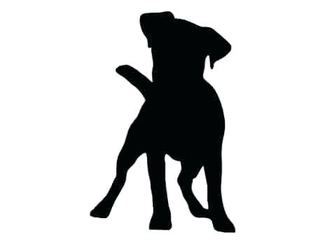 461x346 Dog Head Silhouette S Boxer Dog Head Silhouette