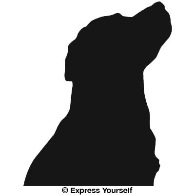 400x400 Lab Dog Head Silhouette