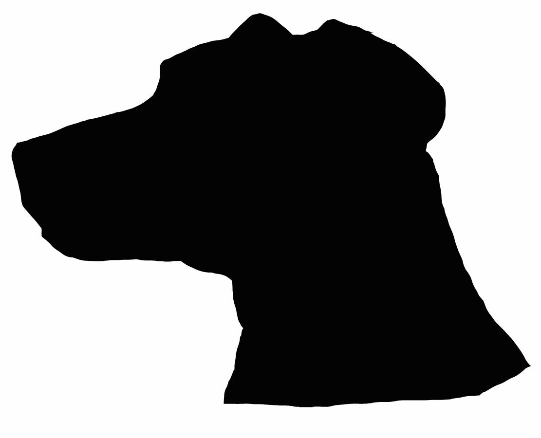 1111x900 Unique Dog Head Silhouette Library