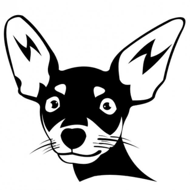 626x626 Chihuahua Dog Head Silhouette Vector Free Download