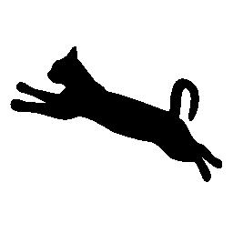 256x256 Jumping Cat Clipart