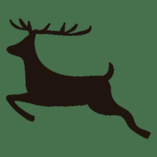 512x512 Reindeer Silhouette Jumping 19