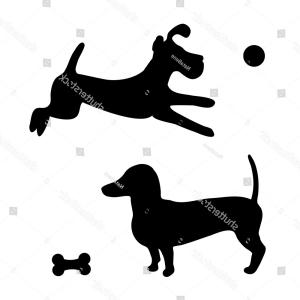 300x300 Black Silhouette Two Dogs Puppy Jumping Ardiafm