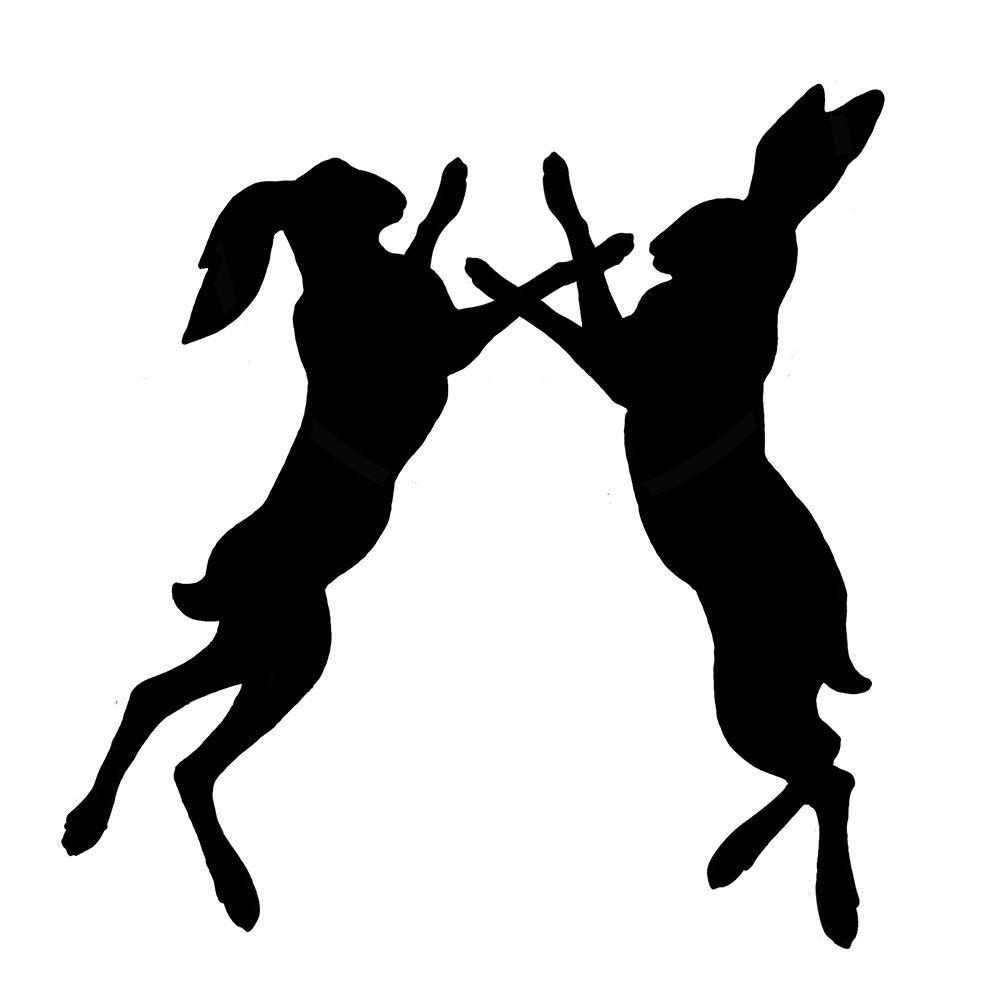 1007x1007 New Boxing Hare Silhouette