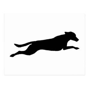 307x307 Dog Silhouette Postcards Zazzle Uk