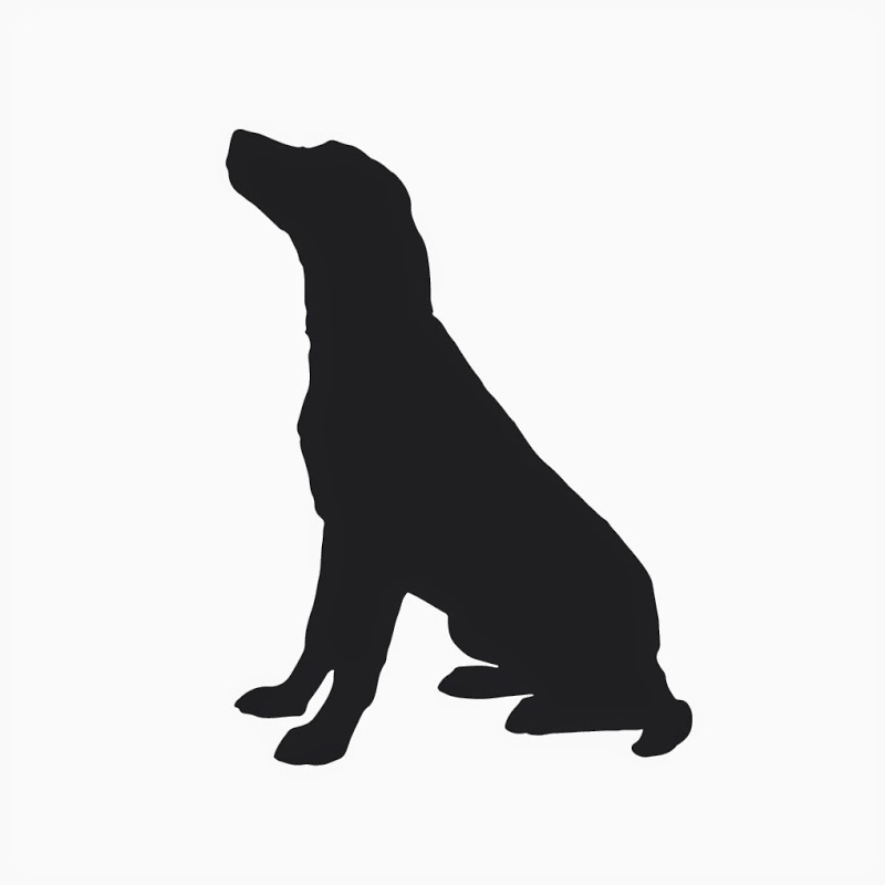 800x800 Dog Sitting Clipart Black And White