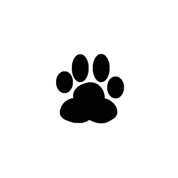 dog paw print silhouette at getdrawings com free for personal use rh getdrawings com clipart tiger paw print paw print clip art outline