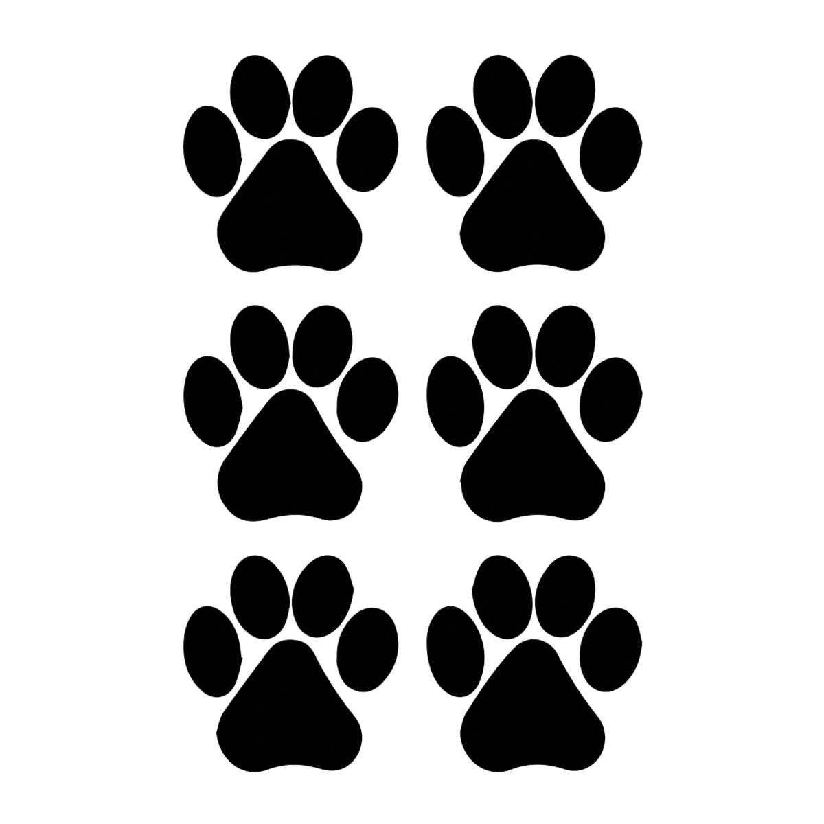1200x1200 Dog Paw Prints Silhouette Vinyl Decal