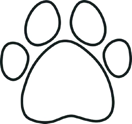 540x507 Free Dog Paw Silhouette Download Free Clip Art Free Clip Art