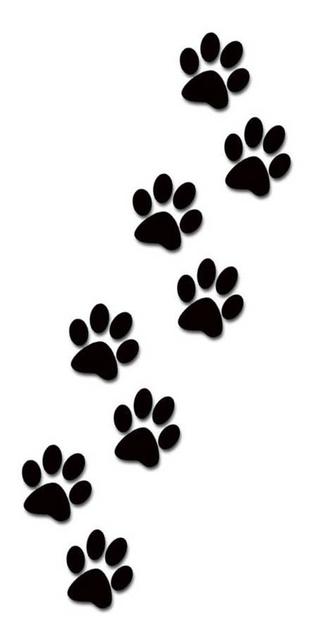 474x908 Paw Print Tattoos On Dog Paw Prints Scroll Clipart 3 3