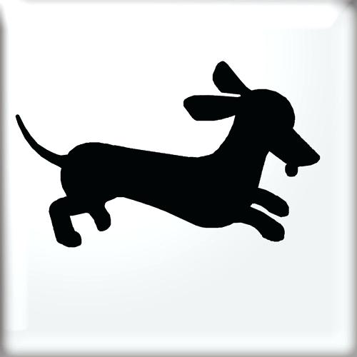500x500 Awesome Wiener Dog Silhouette Images Fun Stuff Free Printable Dog