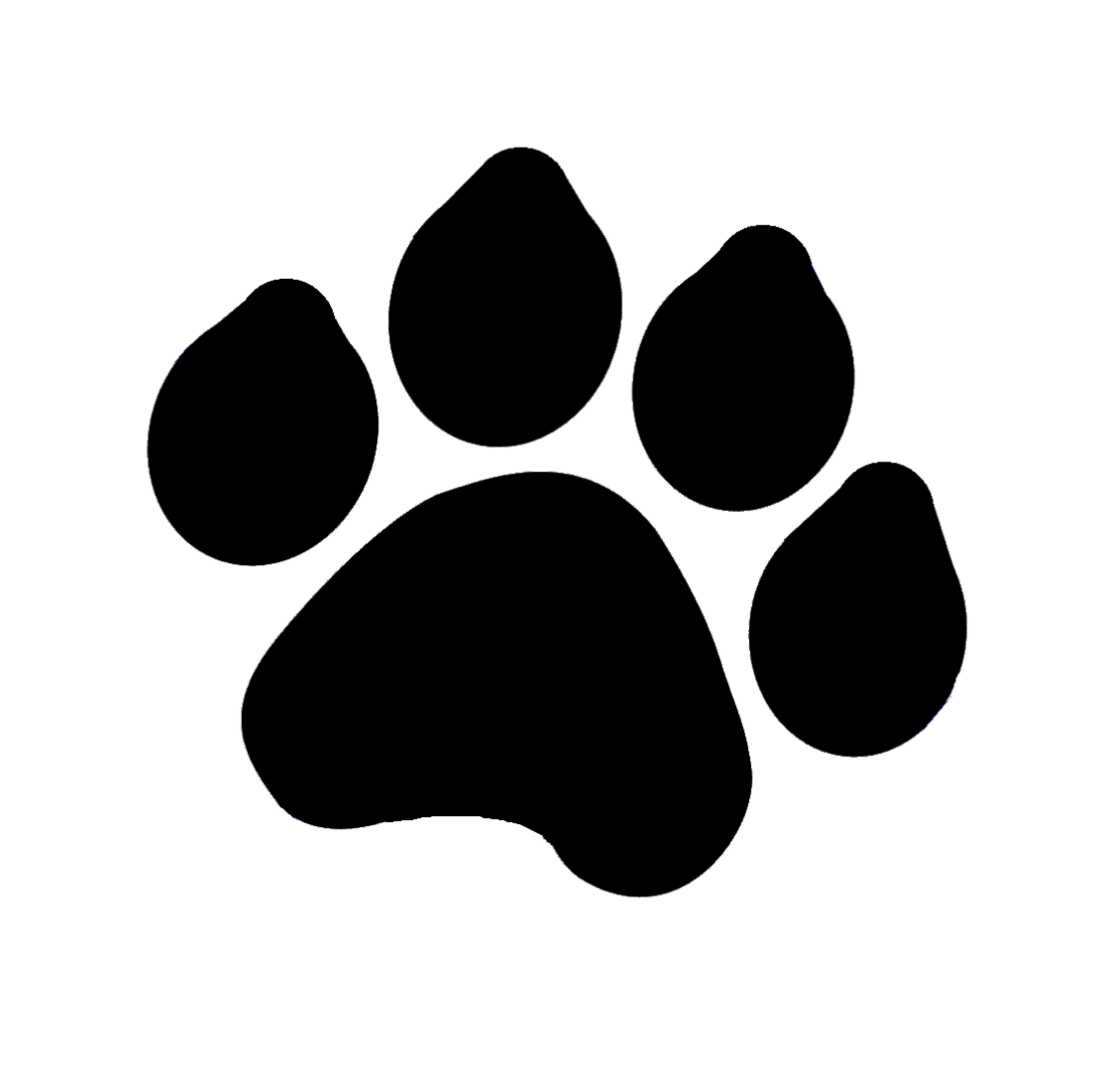 Dog Paw Print Silhouette At GetDrawings.com | Free For Personal Use Dog Paw Print Silhouette Of ...