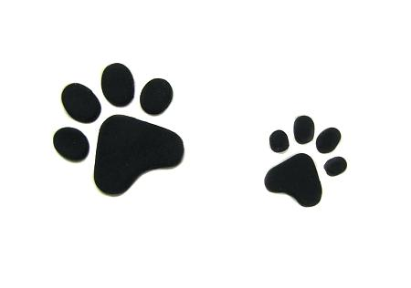 450x316 Paw Print Stamp Mini Rubber Stamp Dog Paw Stamp Cat Paw Like This