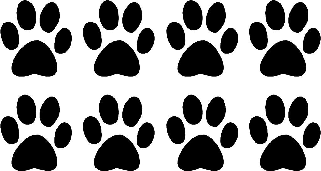 Dog Paw Silhouette at GetDrawings Free for personal