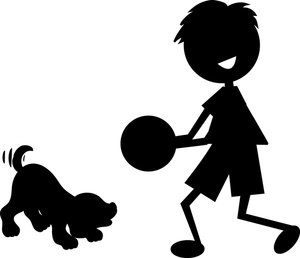 300x258 Free Boy Clip Art Image Silhouette Of Little Boy Playing
