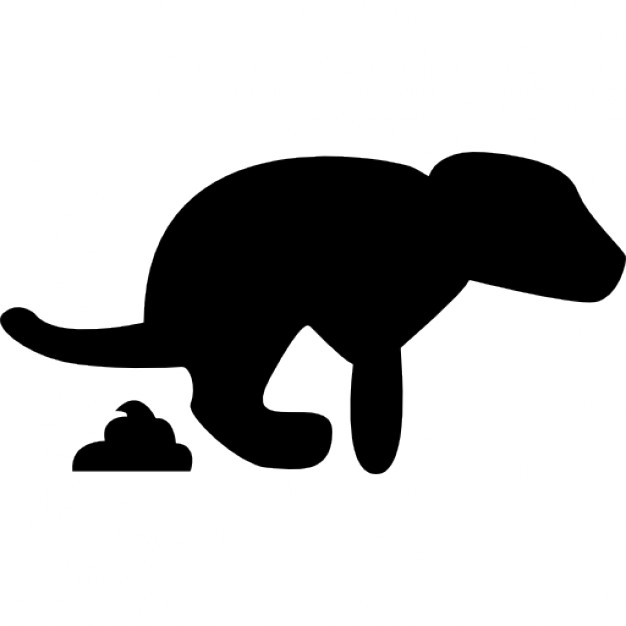 Dog Pooping Silhouette