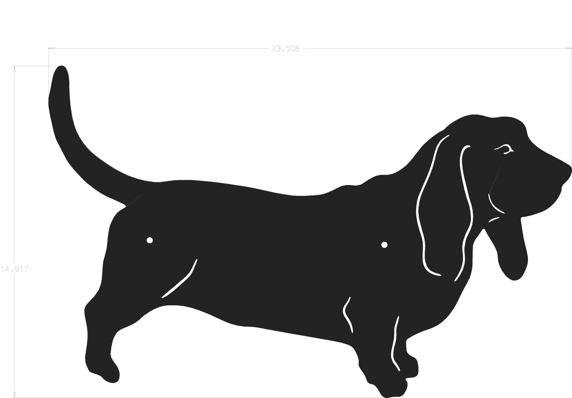 1920x1336 Dog Silhouette Basset Hound Outstanding Clipart