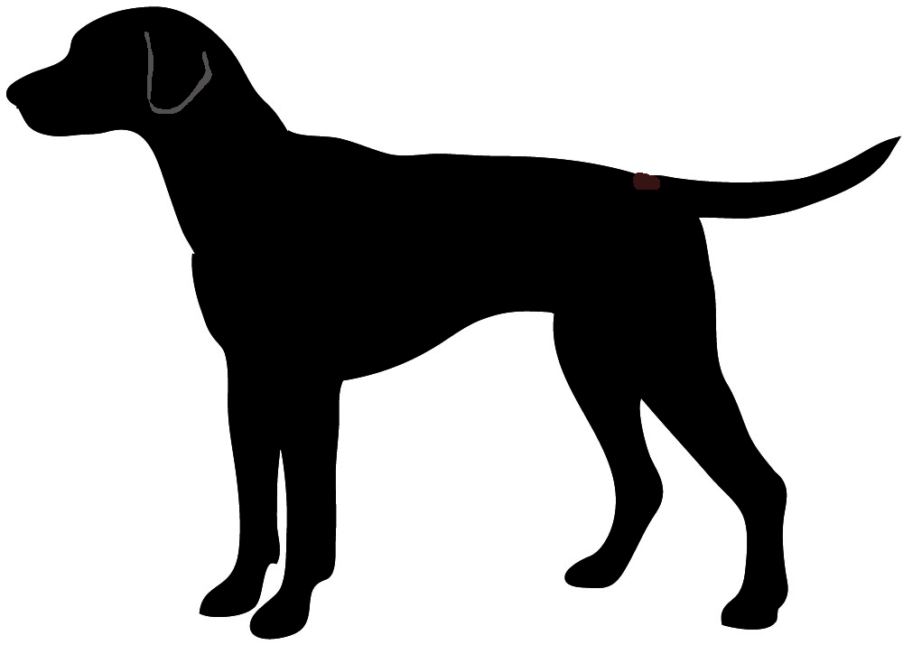 1000x714 Dog Sitting Silhouette Clipart