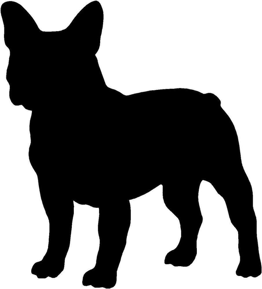 905x1000 French Bulldog Silhouette Sticker, Vinyl Decal, Dog, Puppy 245mm X