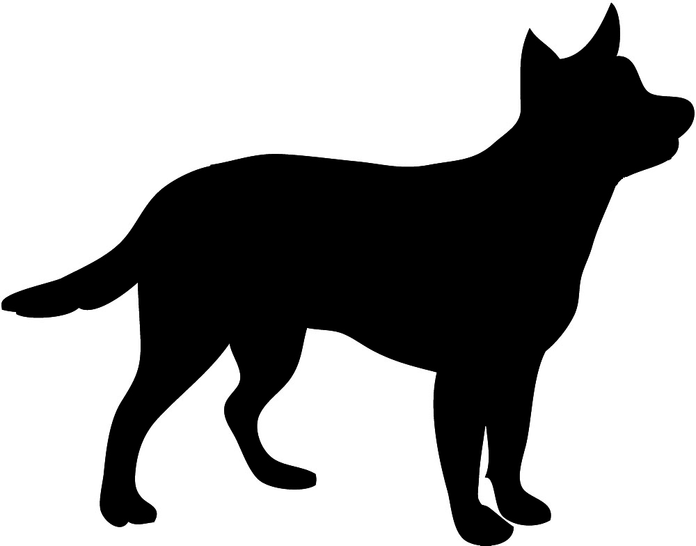 1000x784 Clipart Dog Silhouette Collection