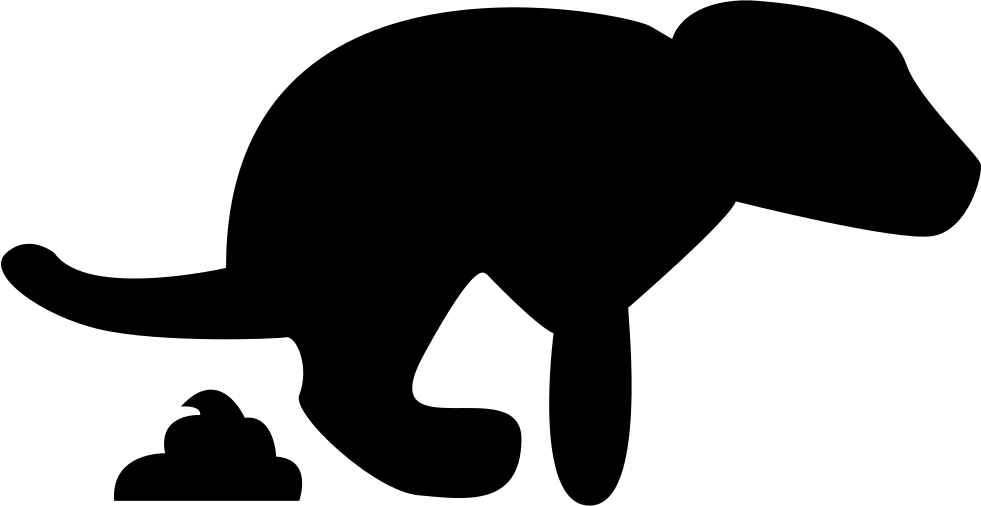 981x506 Dog And Poop Silhouette Svg Png Icon Free Download ( 74306
