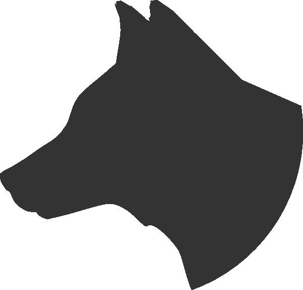 600x574 Dog Head Profile Clip Art