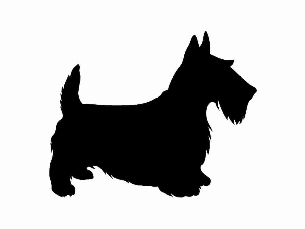 1024x768 Scottish Terrier Dog Breed V2 Silhouette Custom Die Cut Vinyl