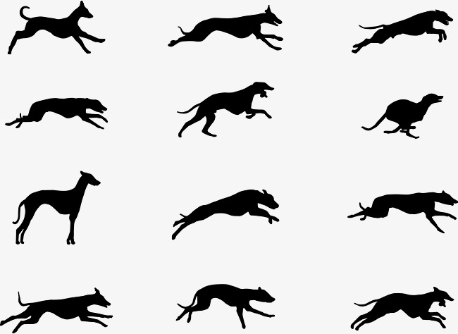 650x474 Running Dog, Black, Run, Dog Png And Vector For Free Download