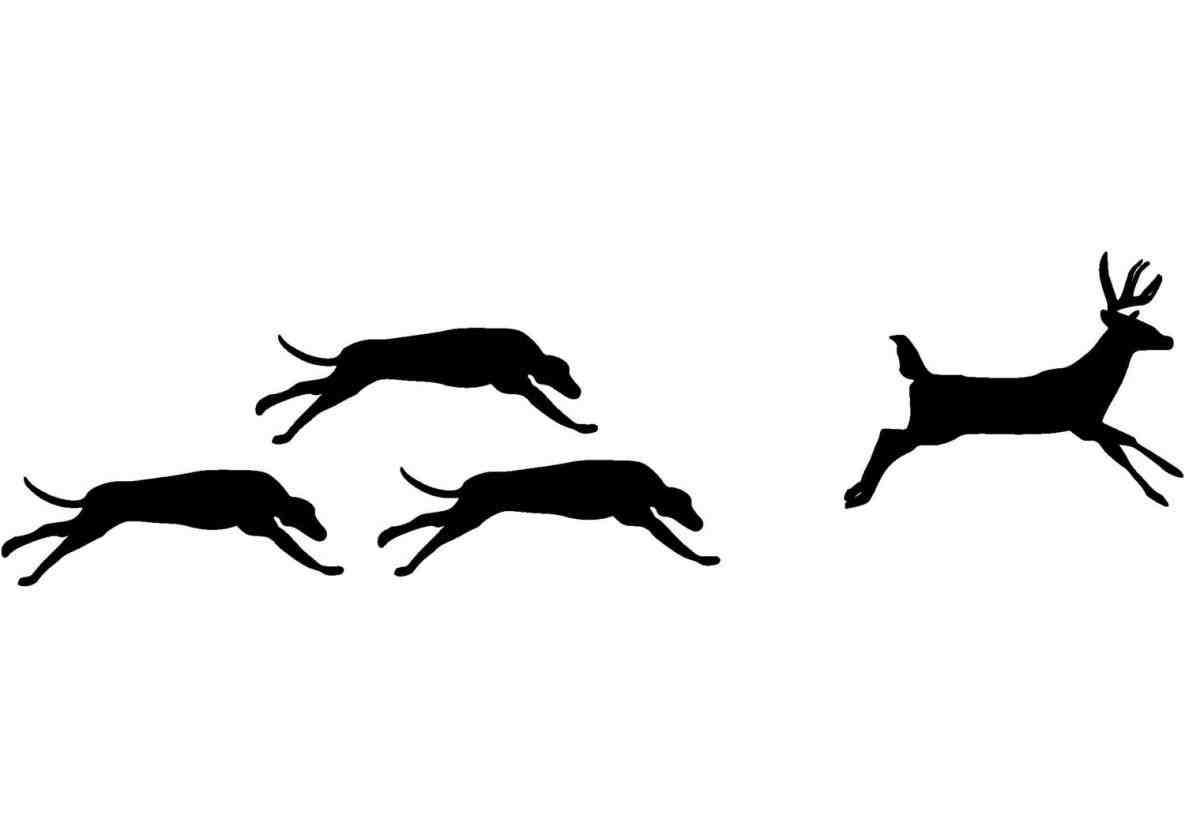 1185x838 Beagle Running Silhouette Animalsee.club