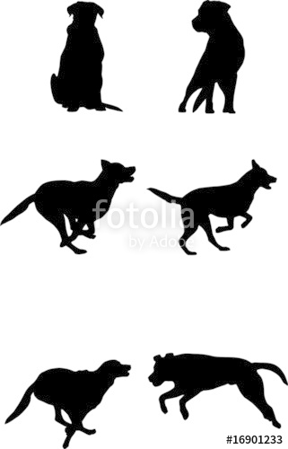 321x500 Vector Dog Silhouette Stock Image And Royalty Free Vector Files