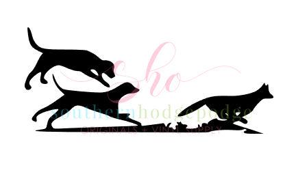 435x249 Walker Dogs Running Fox Design Svg File Svg Design Dogs Chasing