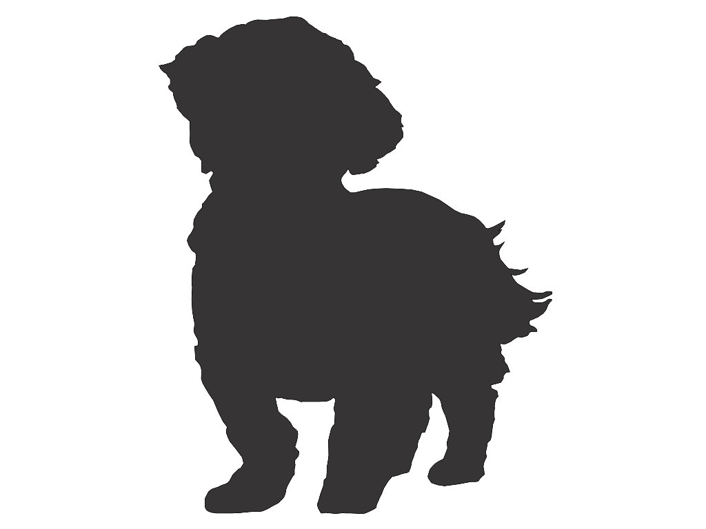 1024x768 Shih Tzu Dog Silhouette Custom Die Cut Vinyl Decal Sticker